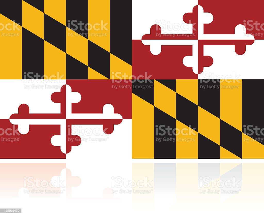 US State Flag: Maryland vector art illustration