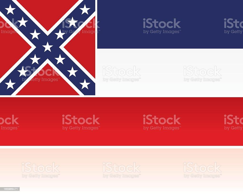 US State Flag: Mississippi vector art illustration