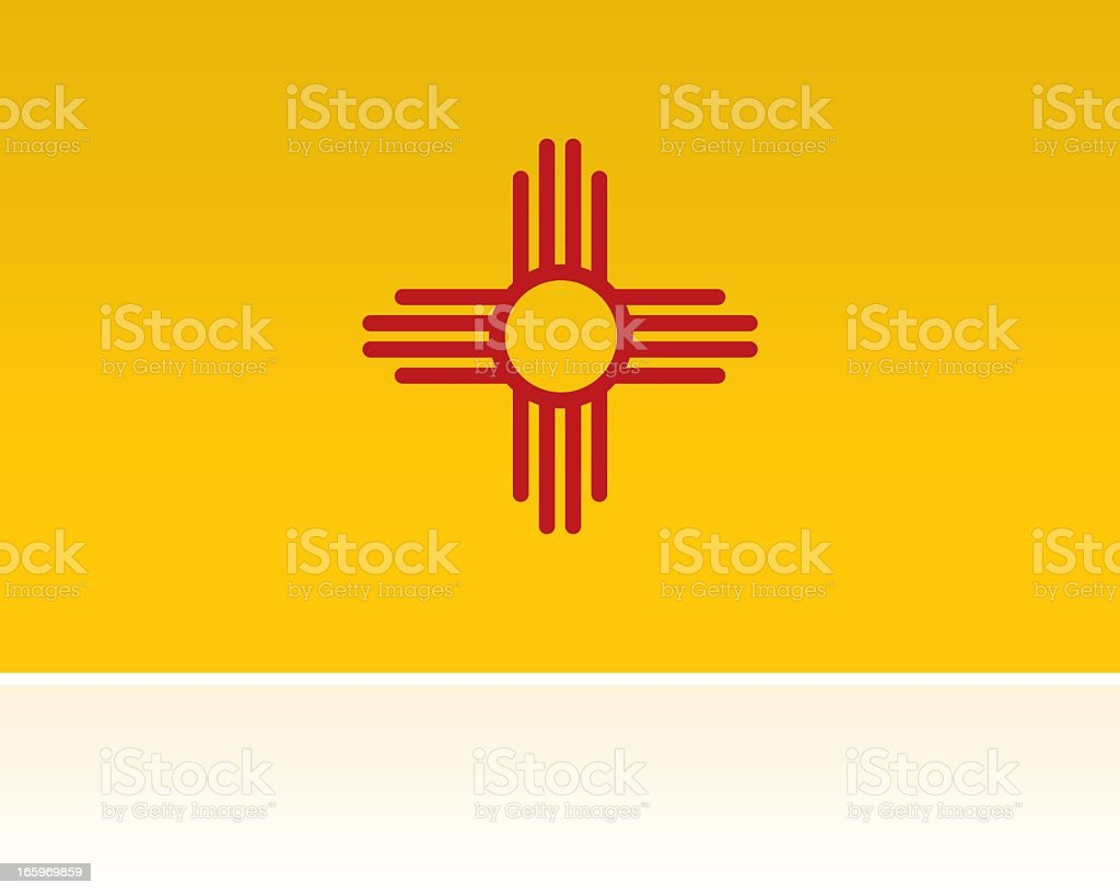 US State Flag: New Mexico royalty-free stock vector art