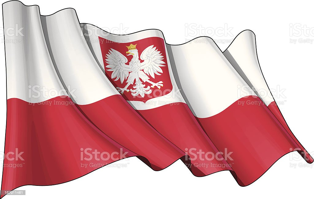 State Flag of Poland vector art illustration