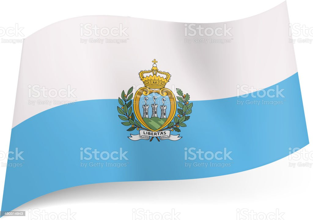 State flag of San Marino. royalty-free stock vector art