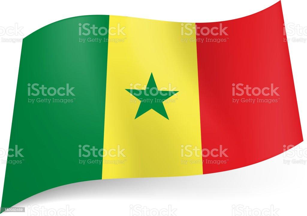 State flag of Senegal. royalty-free stock vector art