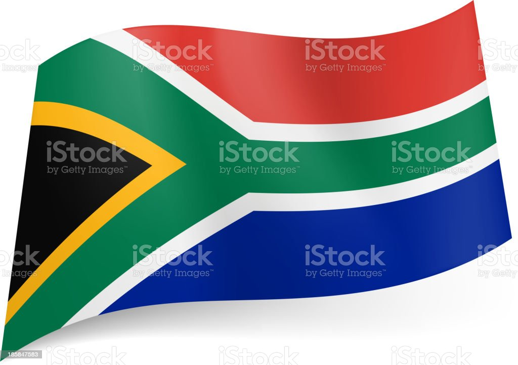 State flag of South Africa. royalty-free stock vector art