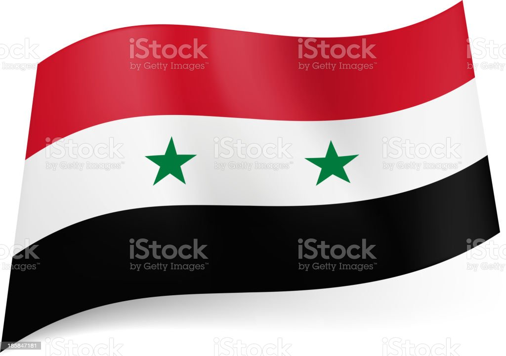 State flag of Syria. royalty-free stock vector art