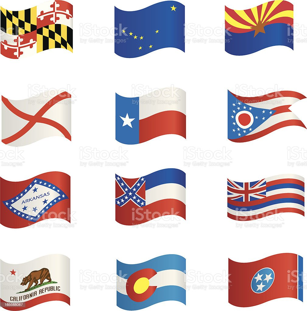 State Flags royalty-free stock vector art