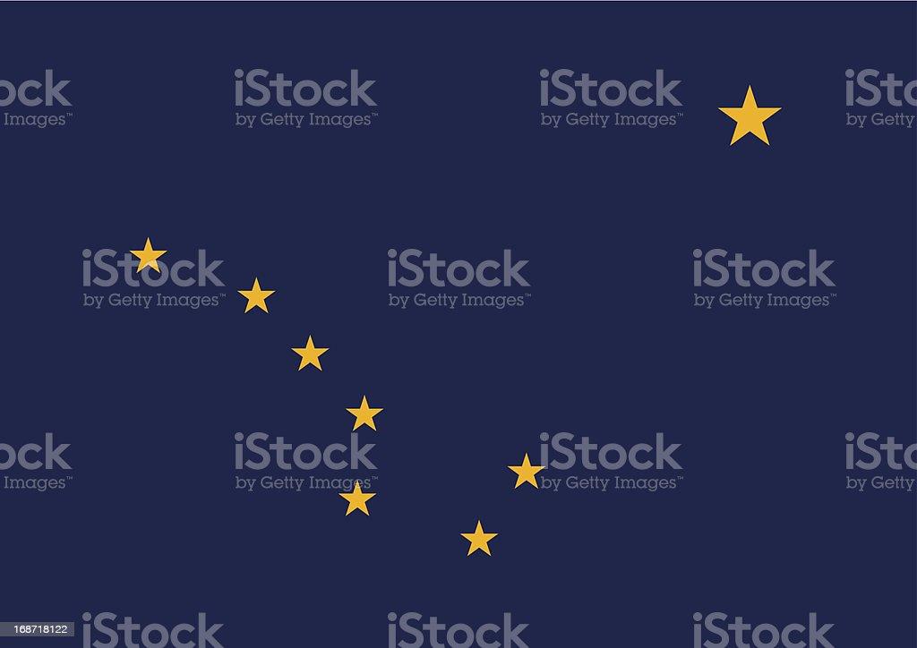 State of Alaska Flag royalty-free stock vector art