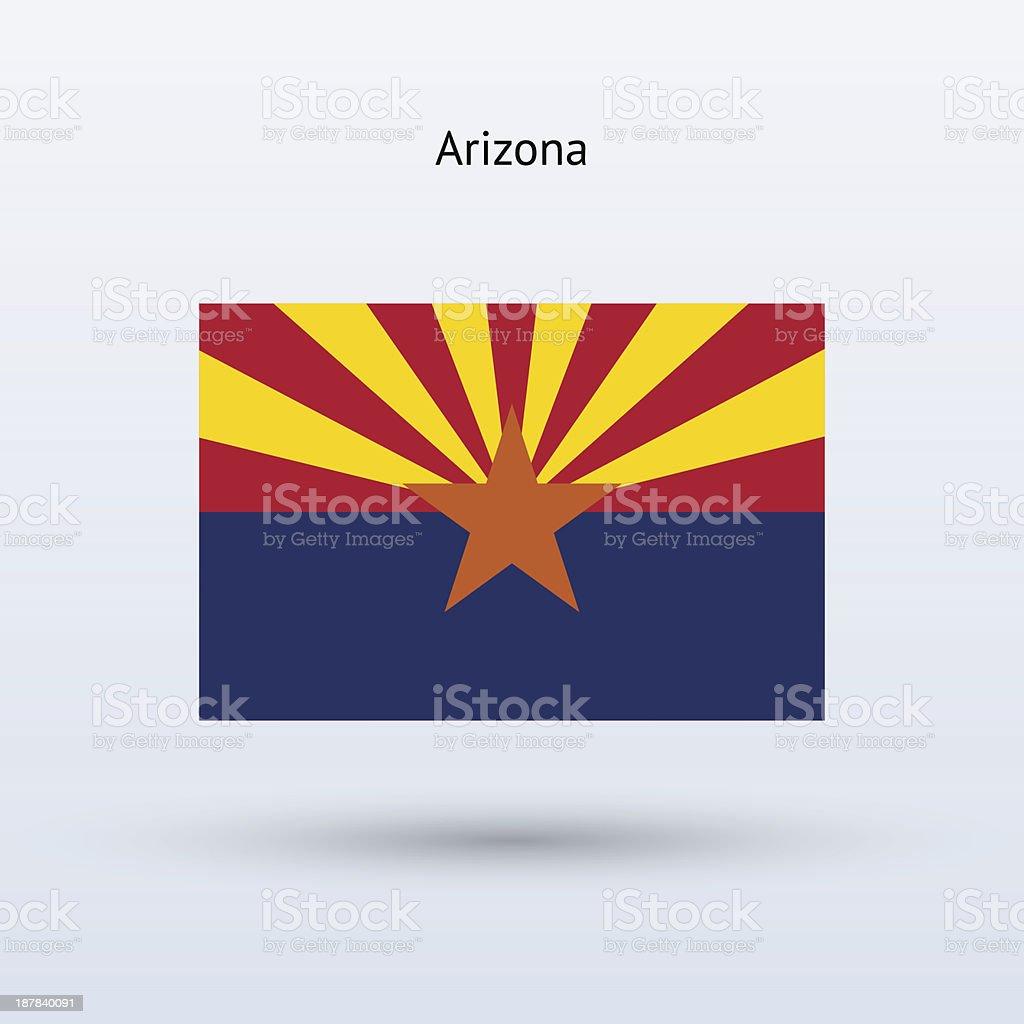 State of Arizona Flag royalty-free stock vector art