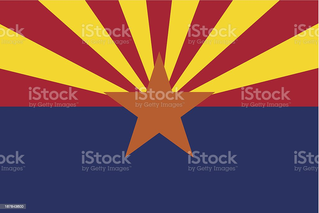 State of Arizona Flag royalty-free stock vector art