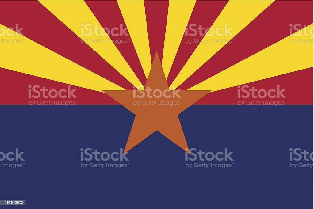 State of Arizona Flag vector art illustration