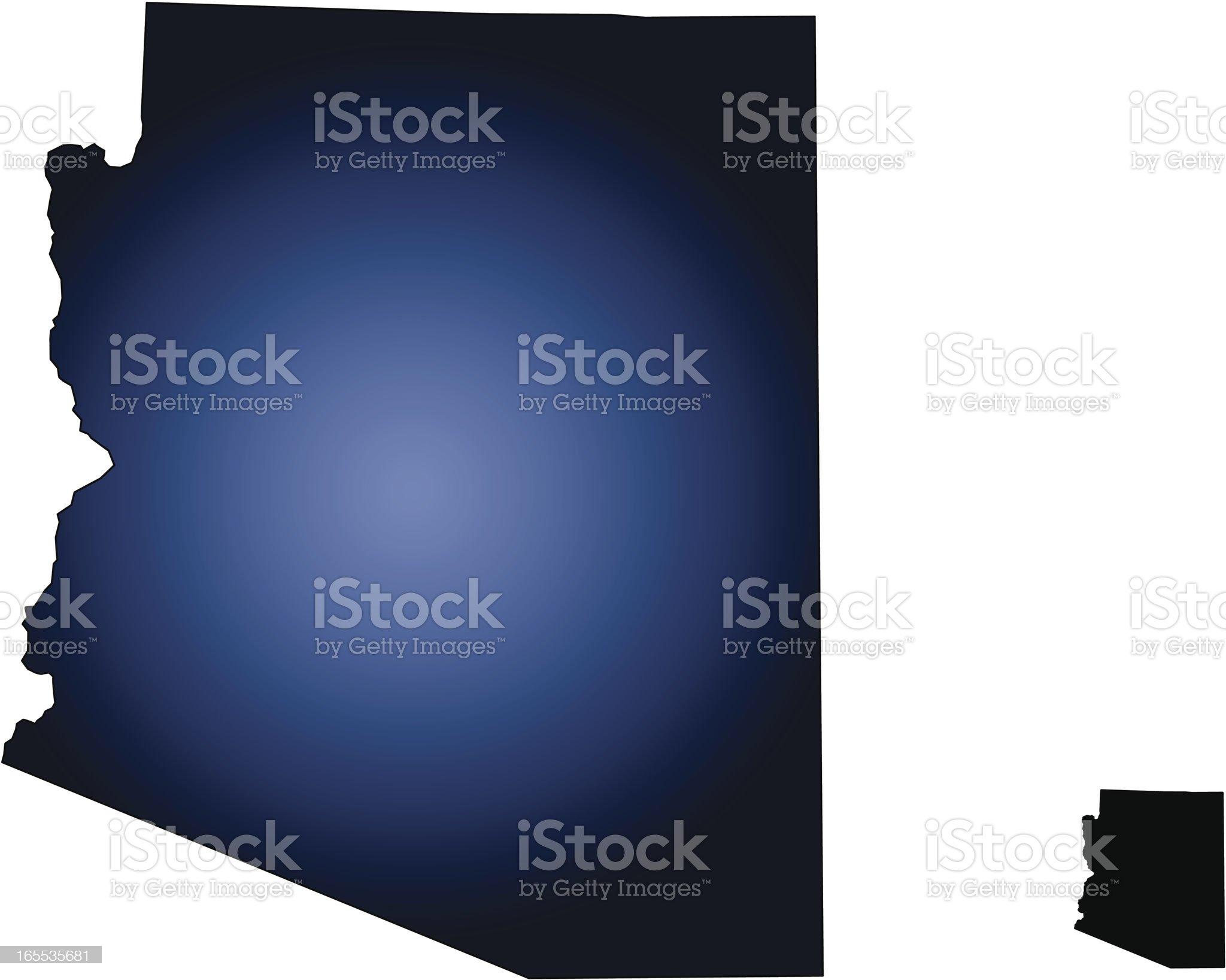 State of Arizona, USA royalty-free stock vector art