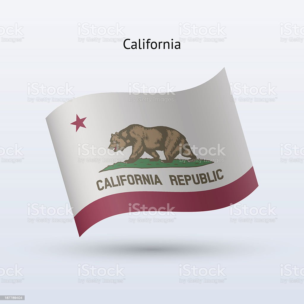 State of California Flag royalty-free stock vector art