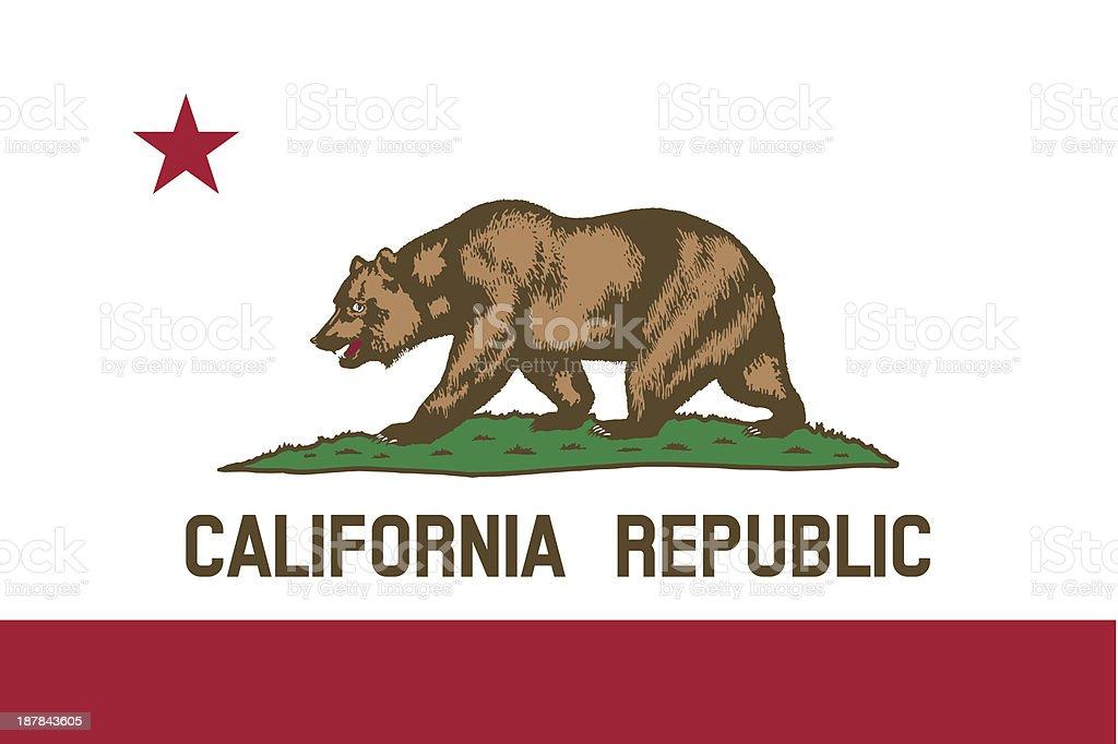 State of California Flag vector art illustration