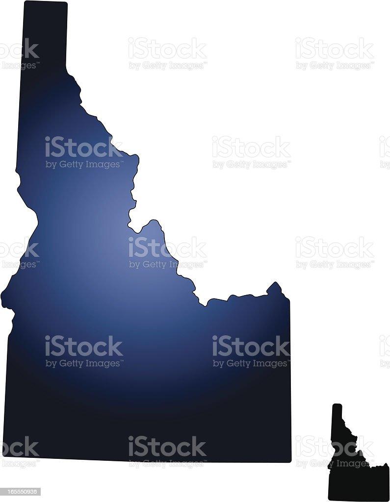 State of Idaho vector art illustration
