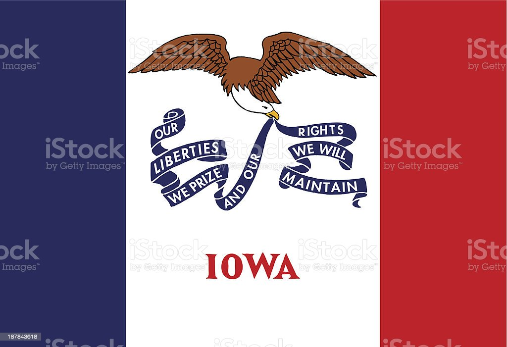 State of Iowa Flag royalty-free stock vector art