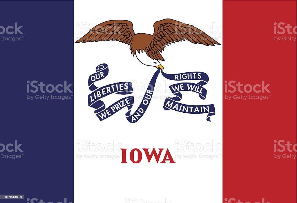 State of Iowa Flag vector art illustration