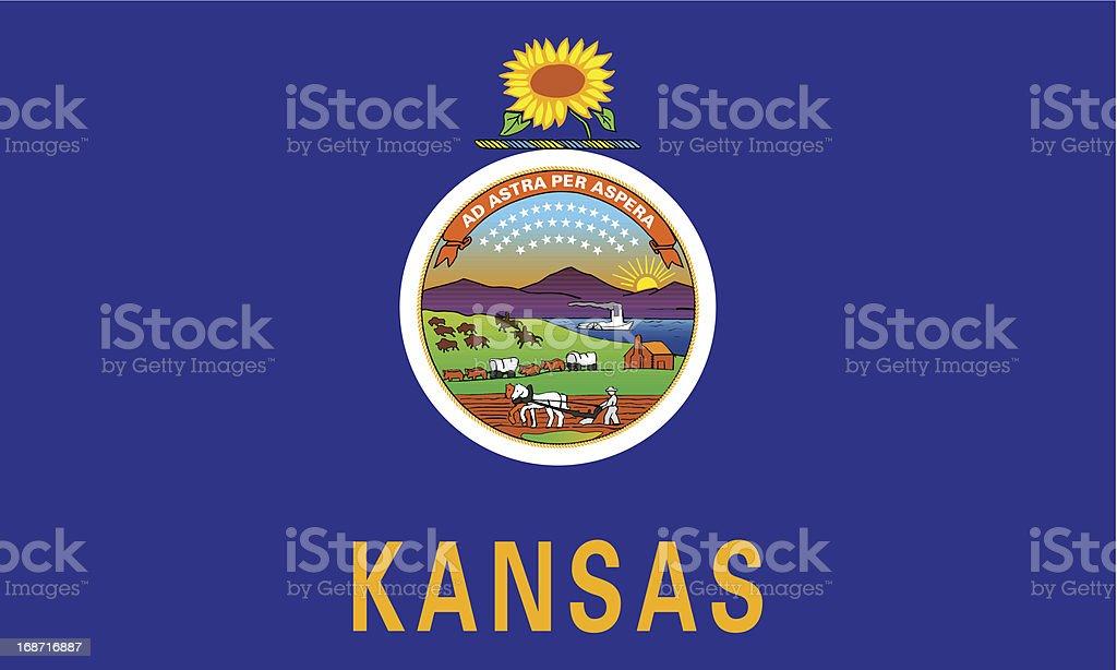 State of Kansas Flag vector art illustration