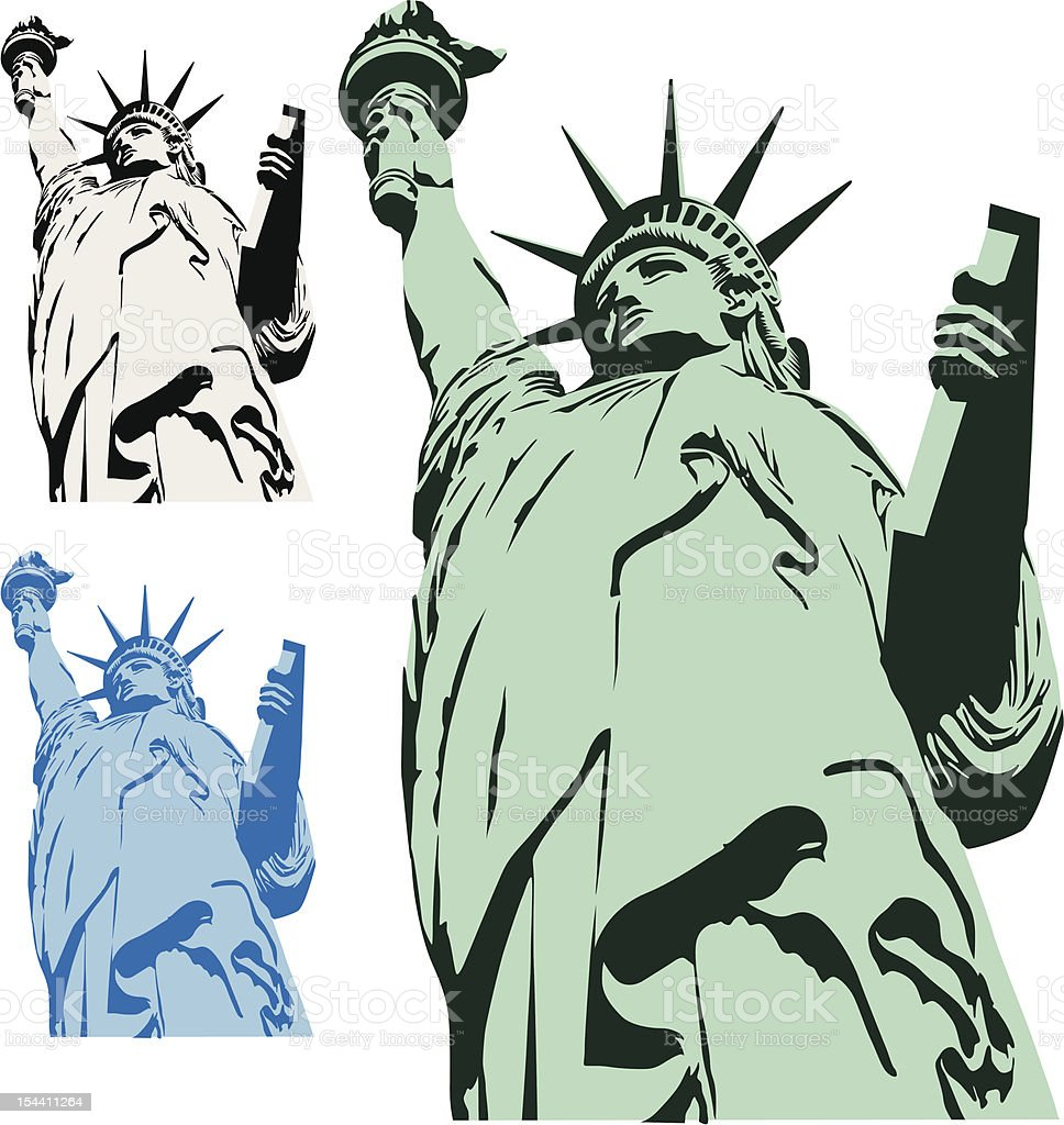 State of Liberty vector art illustration