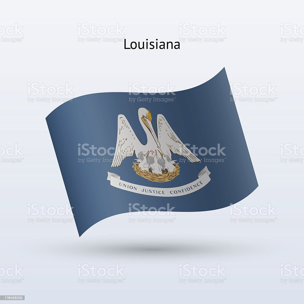 State of Louisiana Flag royalty-free stock vector art