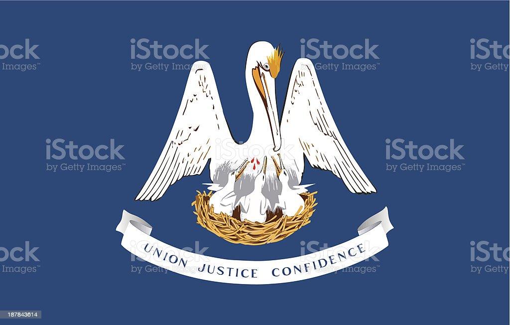 State of Louisiana Flag vector art illustration