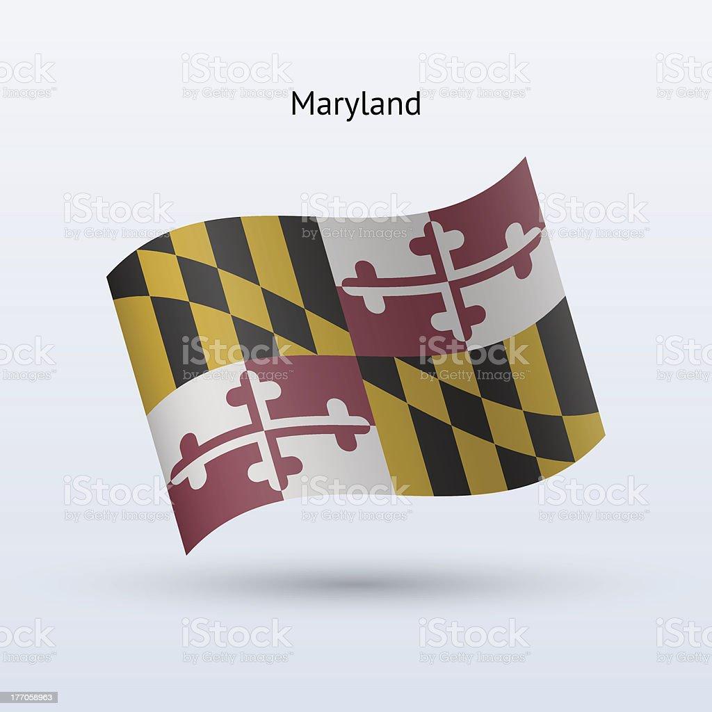 State of Maryland Flag vector art illustration