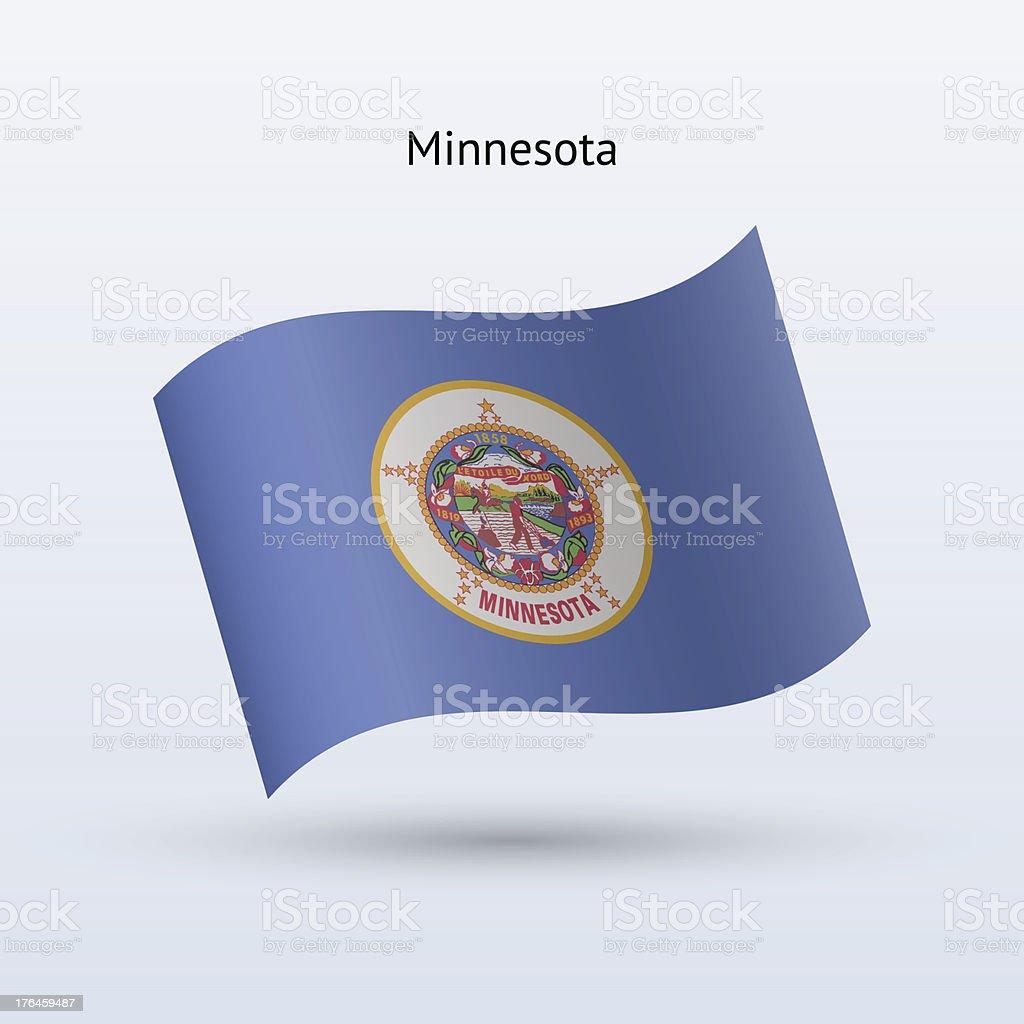 State of Minnesota Flag royalty-free stock vector art