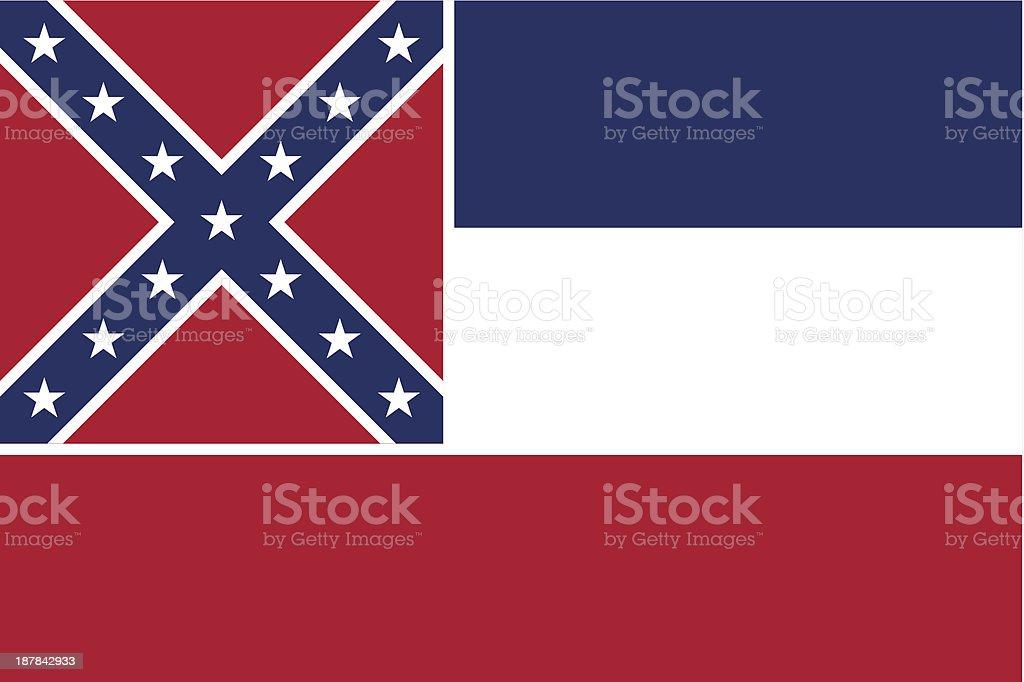 State of Mississippi Flag vector art illustration