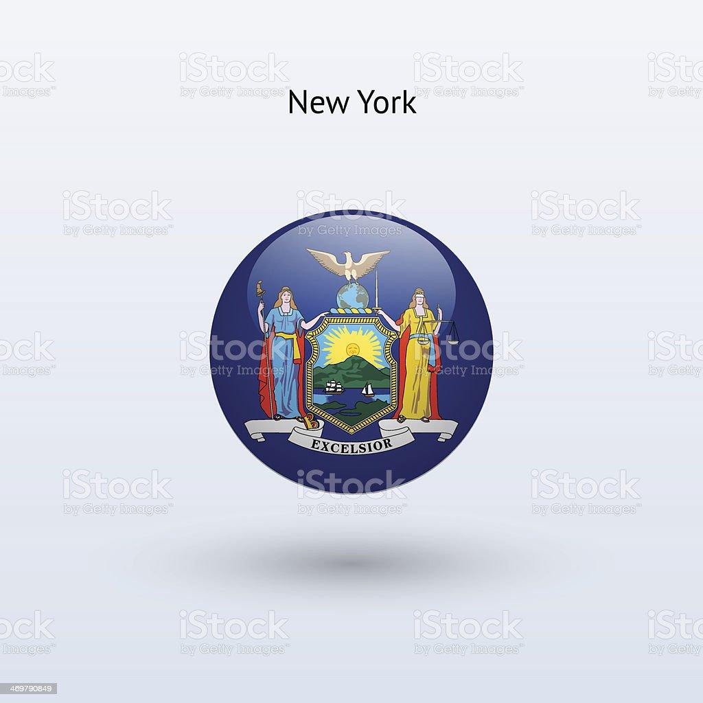 State of New York Flag vector art illustration
