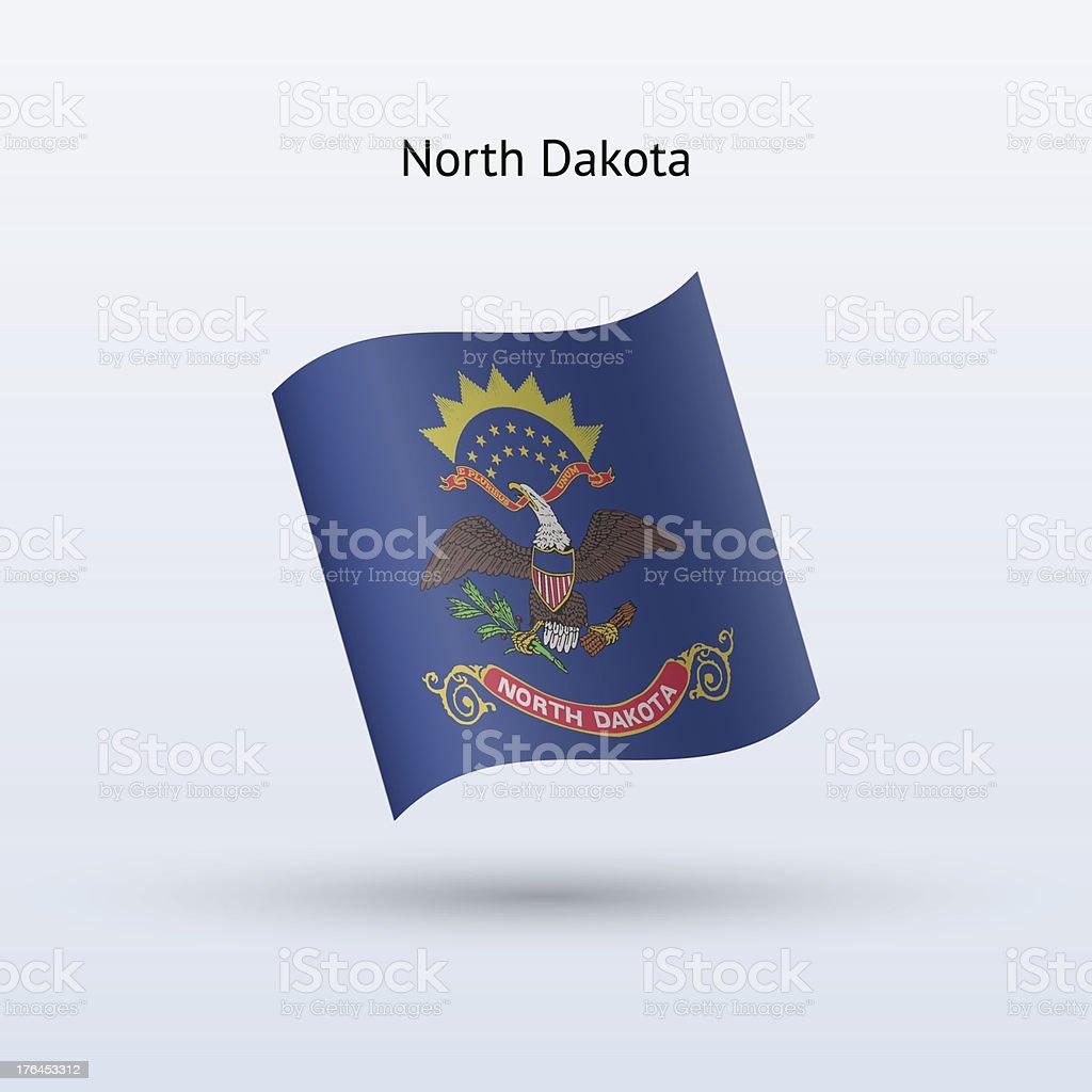 State of North Dakota Flag royalty-free stock vector art