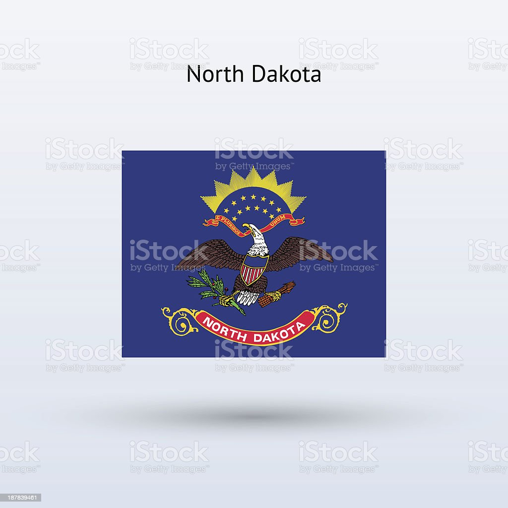 State of North Dakota Flag vector art illustration