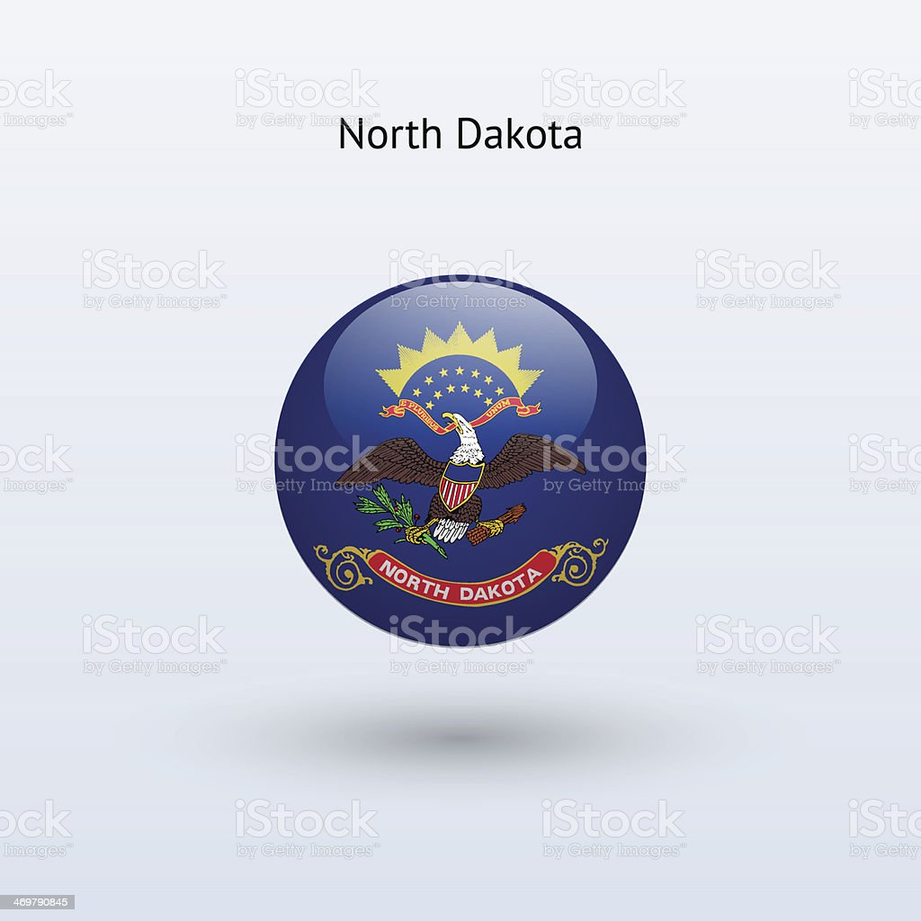 State of North Dakota Flag royalty-free stock vector art