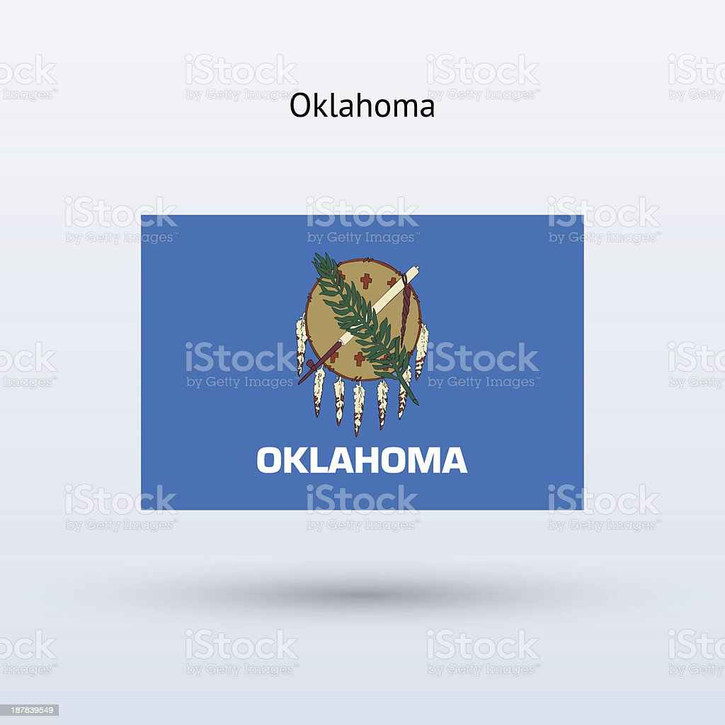State of Oklahoma Flag royalty-free stock vector art