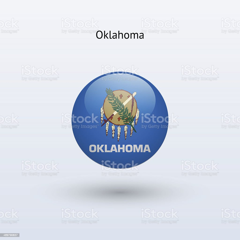 State of Oklahoma Flag vector art illustration