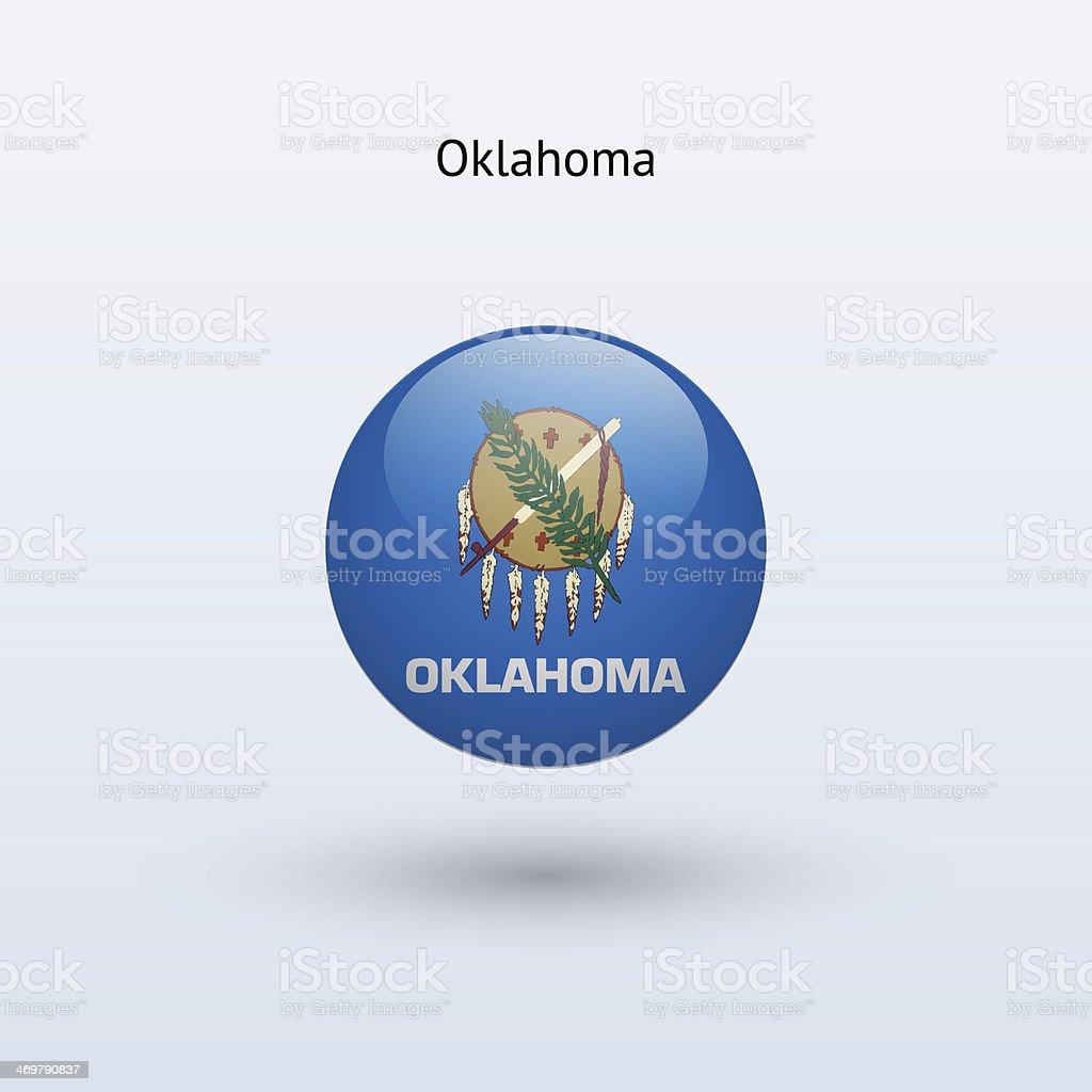 State of Oklahoma Flag vector art illustration