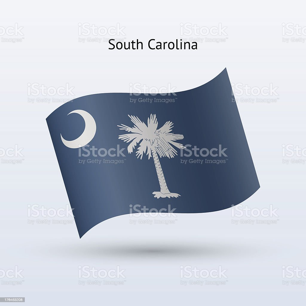 State of South Carolina Flag royalty-free stock vector art