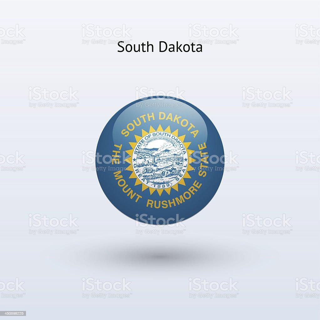 State of South Dakota Flag royalty-free stock vector art