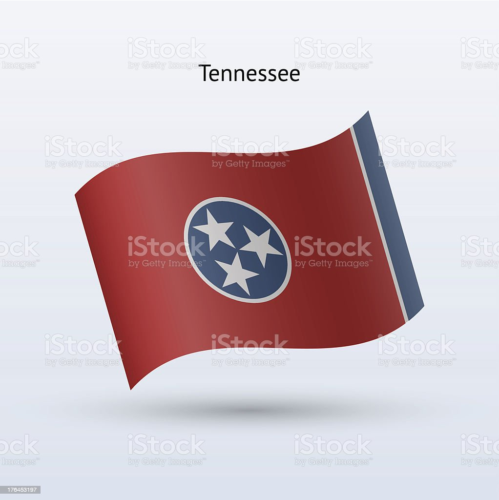 State of Tennessee Flag royalty-free stock vector art