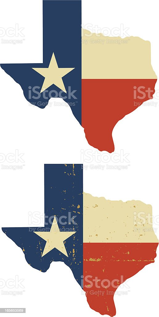 State of Texas vector art illustration