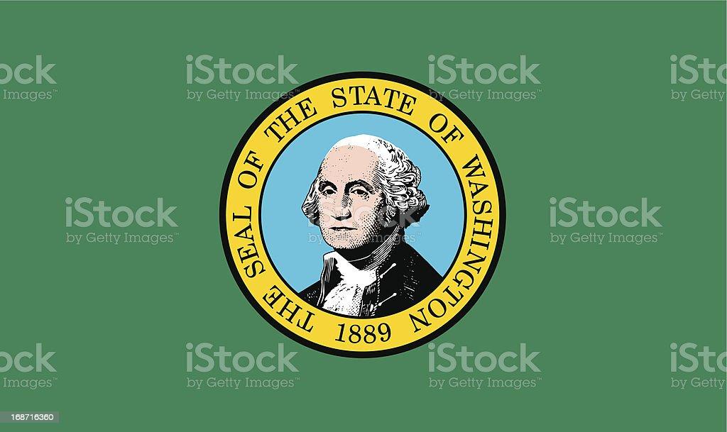 State of Washington Flag vector art illustration