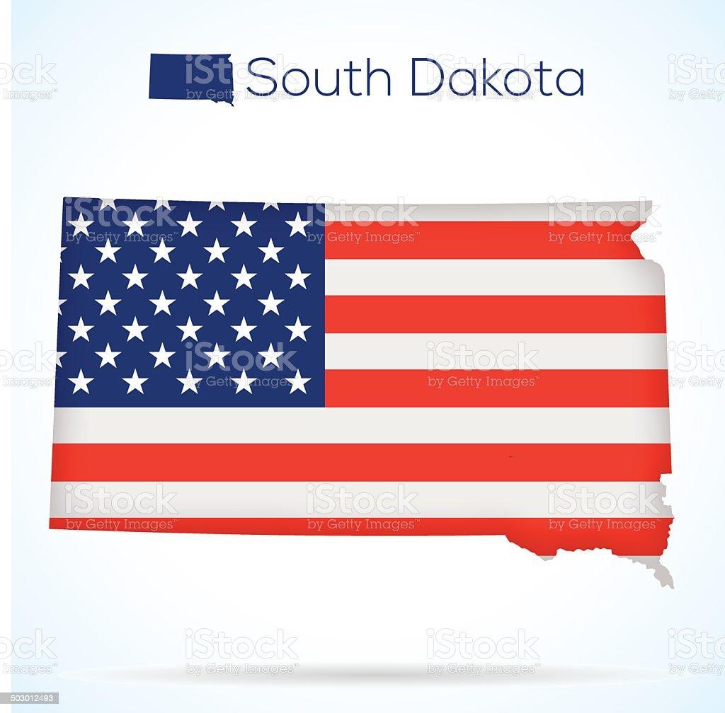 USA state South Dakota royalty-free stock vector art