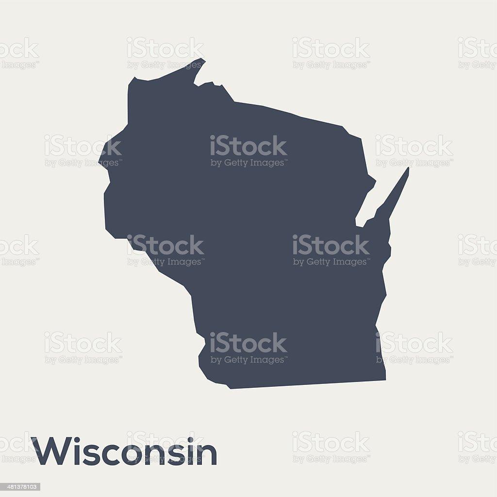 USA state Wisconsin vector art illustration