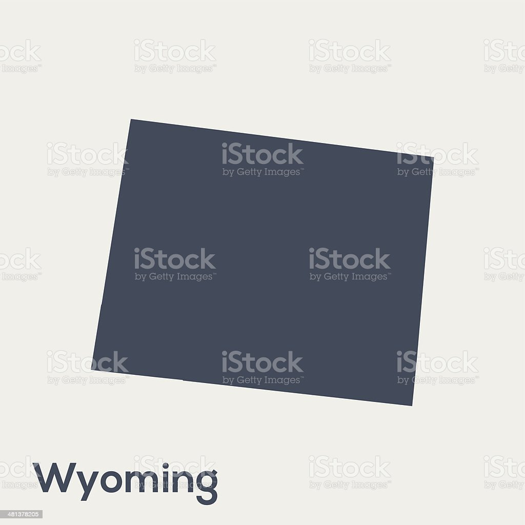 USA state Wyoming royalty-free stock vector art