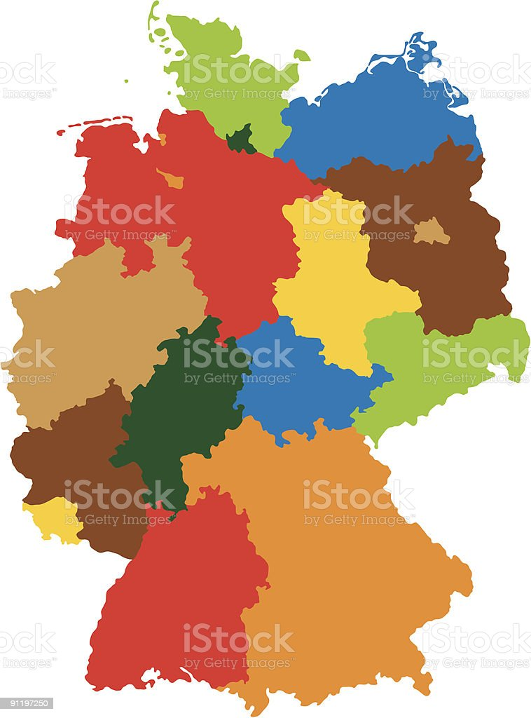 States of Germany royalty-free stock vector art