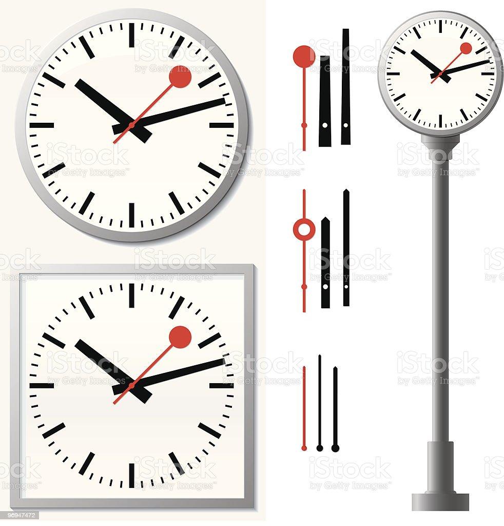 Station clock/wall clock royalty-free stock vector art