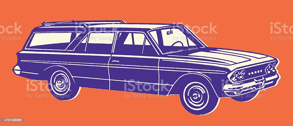Station Wagon vector art illustration