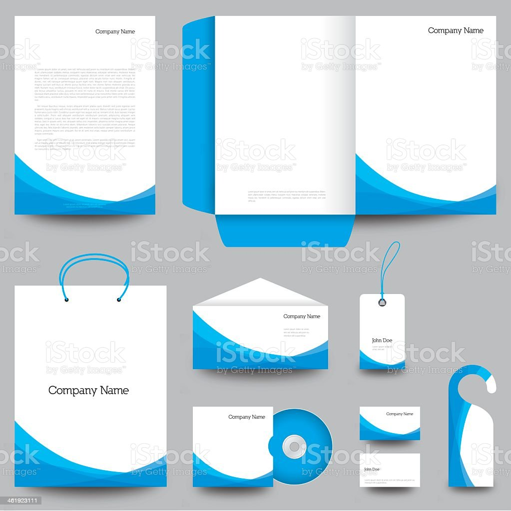 Stationary designs for corporate businesses vector art illustration