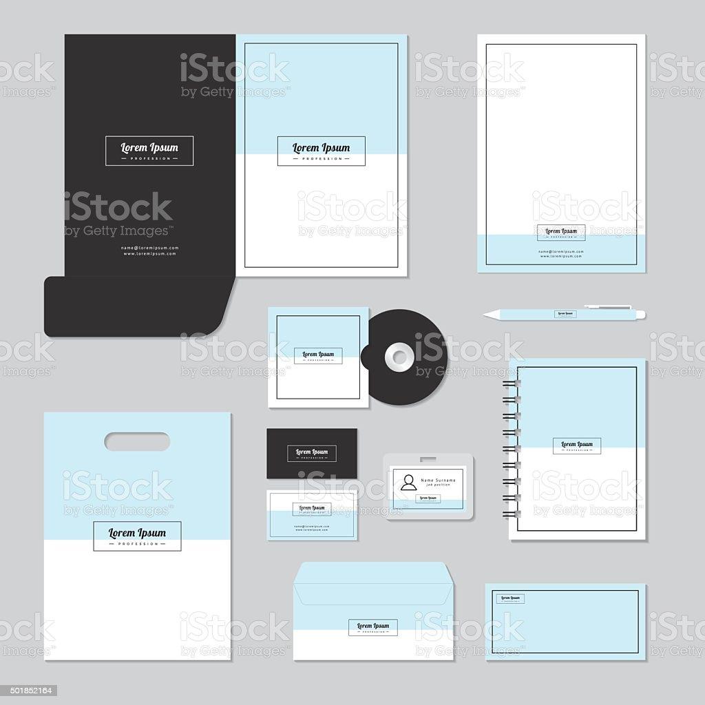 Stationary template design. Corporate identity business set. vector art illustration