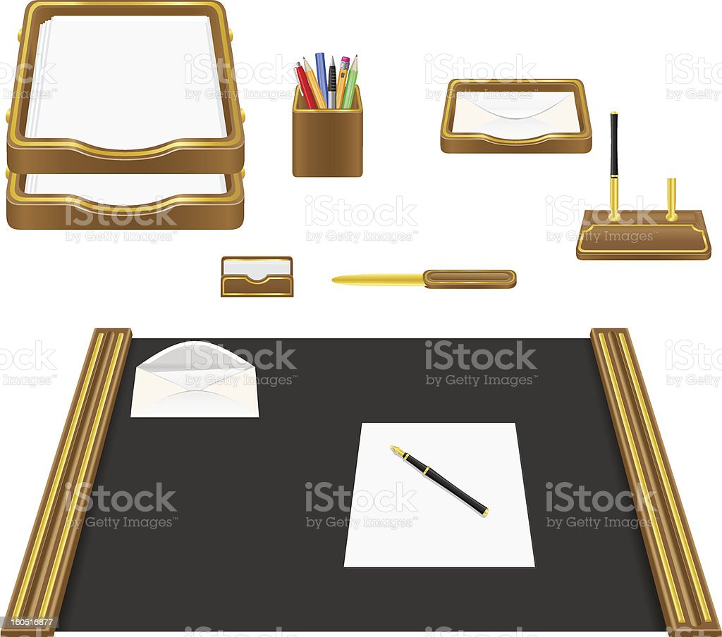 stationery office vector illustration royalty-free stock vector art