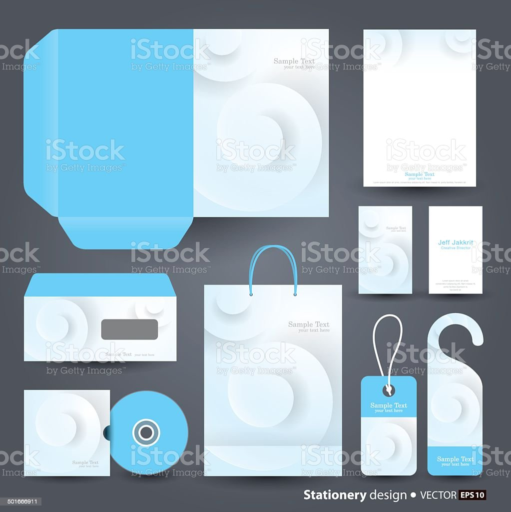 Stationery Set Design. vector art illustration