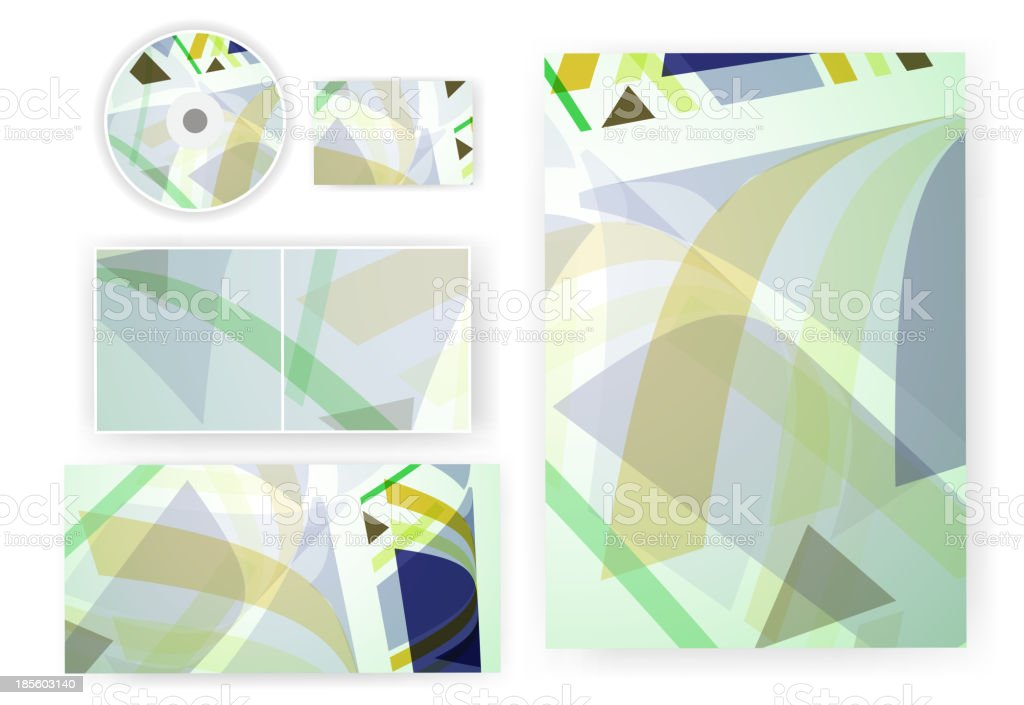 Stationery set for your design royalty-free stock vector art