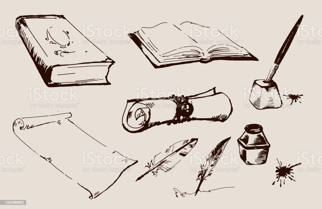 stationery vector art illustration